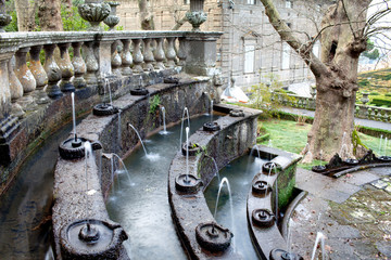 Fountain Of The Lamps Detail Villa Lante Italy