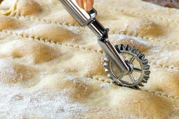 Cut Homemade Agnolotti