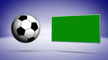 Soccer Ball with Green Screen Monitor, Background
