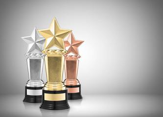 star awards on gray background