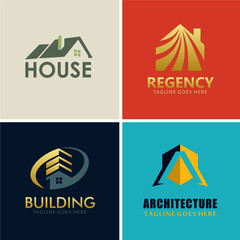 house roof building logos