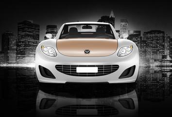 Contemporary Car Elegance Vehicle Transportation Concept