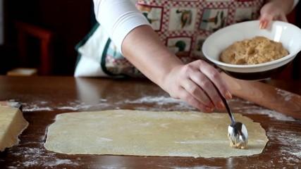 Homemade Agnolotti Preparation