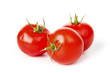 Tomato vegetables on white background