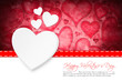 canvas print picture - Valentinstagskarte