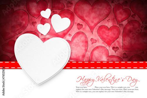 canvas print picture Valentinstagskarte