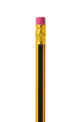 Close-up image of pencil isolated on white background