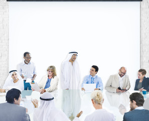 Business People Corporate Meeting Presentation Concept