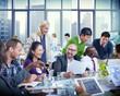 Business People Team Teamwork Cooperation Occupation Partnership