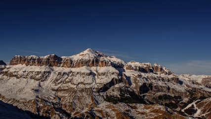 Sella Ronda group, west face, winter time lapse