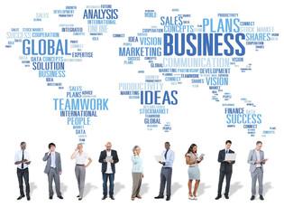 Business Global World Plans Organization Enterprise Concept
