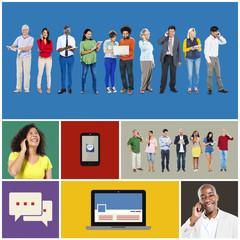Technology Digital Device Communication Connection Concept