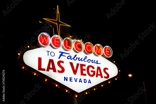 Foto op Canvas Las Vegas Welcome to las Vegas