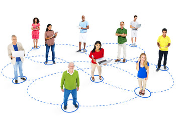 Casual Group Diverse People Social Networking Concept