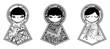Vector background with babushka matryoshka dolls