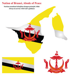 Nation of Brunei Flag