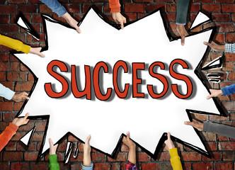 Success Achievemnt Victory Accomplishment Growth Concept