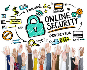 Online Security Protection Internet Safety Hands Volunteer