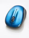 modré bezdrátová myš