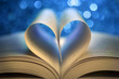 Book pages in the shape of a heart - 76528000