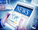 News Update Latest Information Headline Media Article Concept