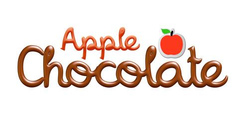 Apple chocolate logo isolated on white