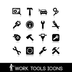 Work tools icons set 1
