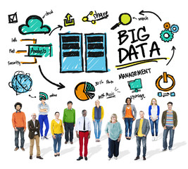 Ethnicity Cheerful Group Big Data Information Database Concept