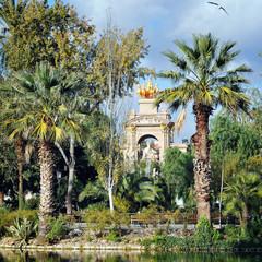 Statue of Aurora in Ciutadella park, Barcelona