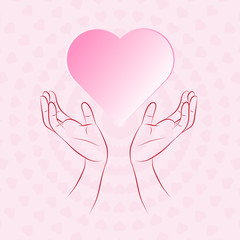 Hand protecting heart