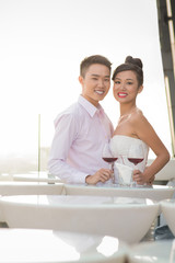 Happy young Vietnamese couple