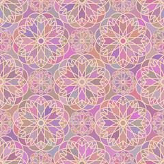 Mosaic spirographs pattern