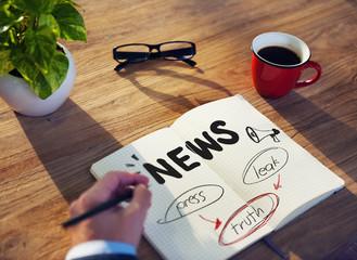 Truth Leak News Broadcast Publication Information Concept