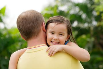 Carrying daughter