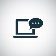 laptop message icon