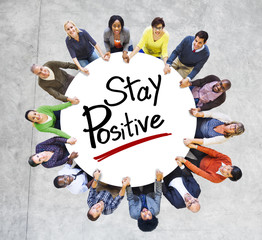 Aerial View People Community Stay Positive Optimistic Concept