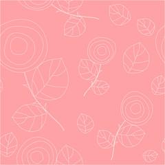 floral seamless background. vector illustration