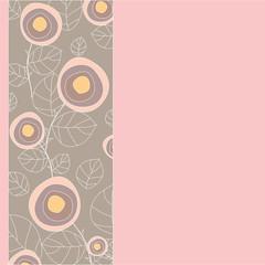 abstract rose pattern. vector illustration