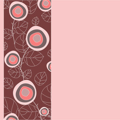 astract rose.flower pattern. vector illustration