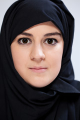 Close-up of muslim woman