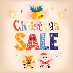 Christmas sale retro design