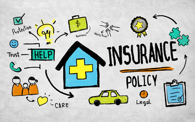 Insurance Policy Benefits Management Safety Concept