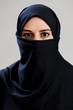Muslim woman with big dark eyes
