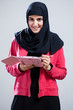 Arabic girl with a tablet