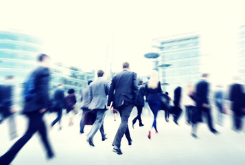 Commuter Business People Cityscape Corporate Walking Concept