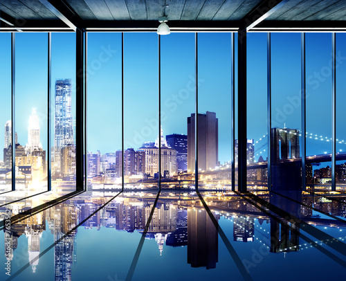 Obraz na płótnie Widok na miasto