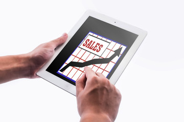 businessman pointing the chart on pad