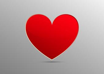 Vector  Heart paper for Valentine Card  Design