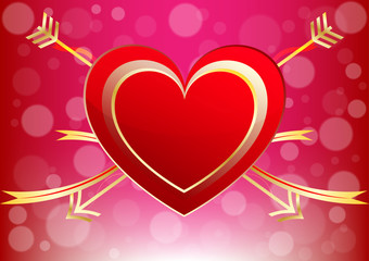 Vector Heart of a Valentine Day  decorative love background