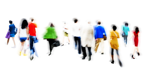People Walking Shopping Retail Market Sale Consumer Concept